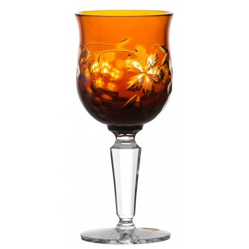 Sklenice na víno Grapes, barva amber, objem 140 ml
