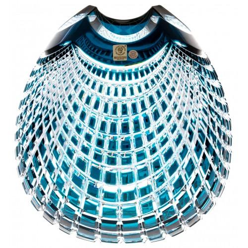 Váza Quadrus, barva azurová, výška 280 mm