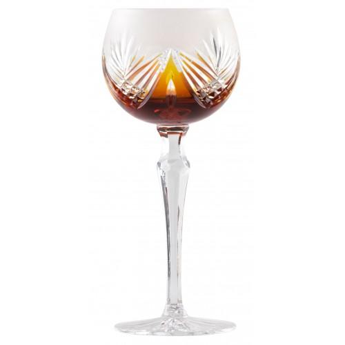 Sklenice na víno  Janette, barva amber, objem 190 ml