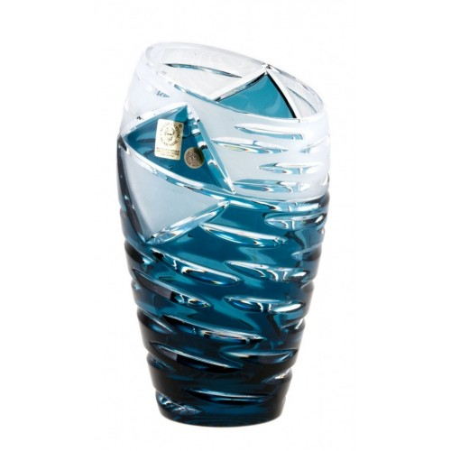Váza  Mirage, barva azurová, výška 180 mm