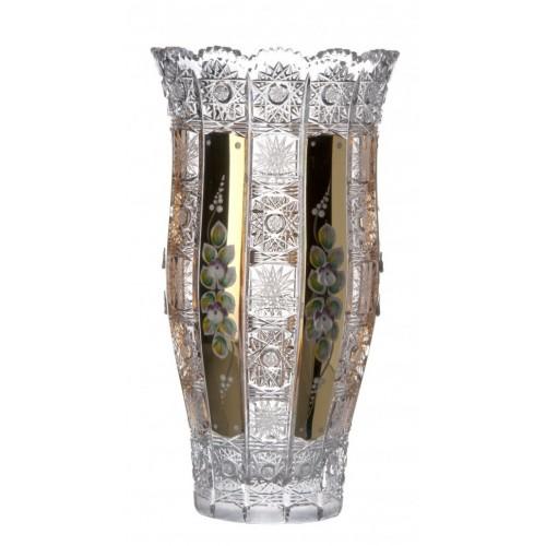 Váza 500K Zlato III, barva čirý křišťál, výška 305 mm