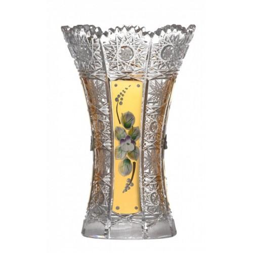 Váza 500K Zlato I, barva čirý křišťál, výška 180 mm