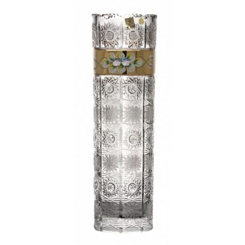 Váza 500K Zlato               , barva čirý křišťál, výška 360 mm