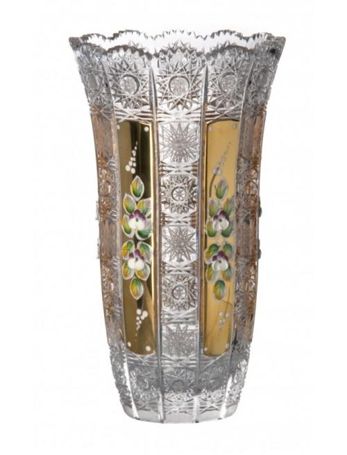 Váza 500K Zlato, barva čirý křišťál, výška 255 mm