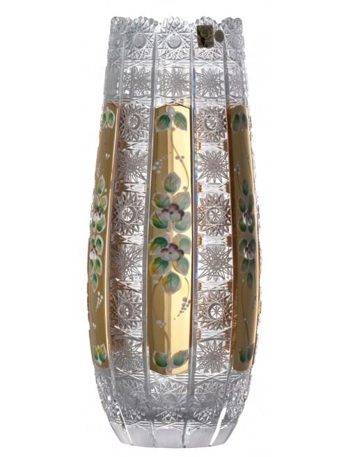 Váza 500K Zlato, barva čirý křišťál, výška 350 mm