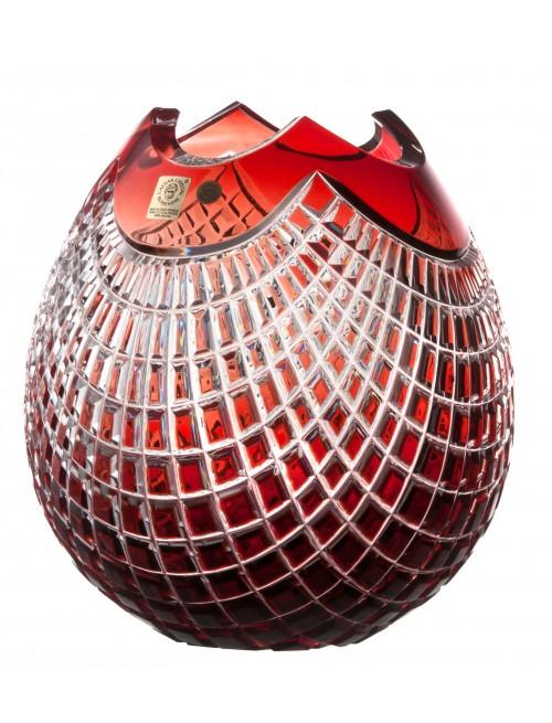 Váza Quadrus, barva rubín, výška 210 mm
