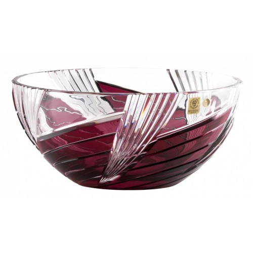 Mísa  Whirl, barva rubín, průměr 250 mm