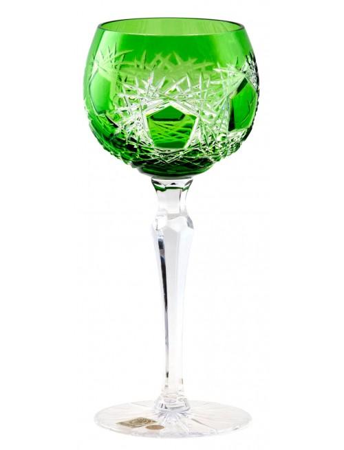 Sklenice na víno Frost, barva zelená, objem 190 ml