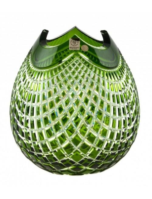 Váza  Quadrus, barva zelená, výška 210 mm