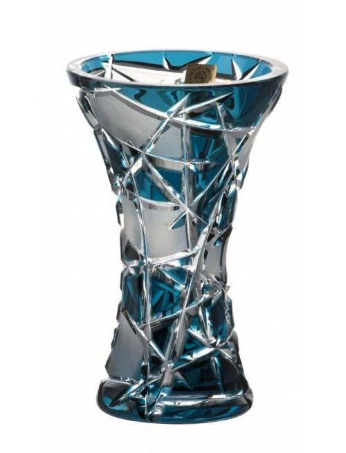 Váza  Mars, barva azurová, výška 155 mm