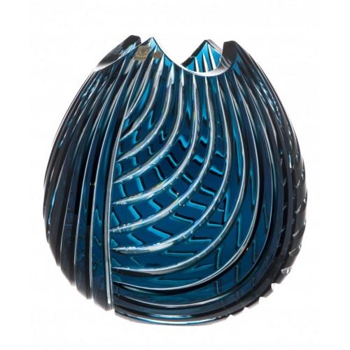 Váza  Linum, barva azurová, výška 280 mm