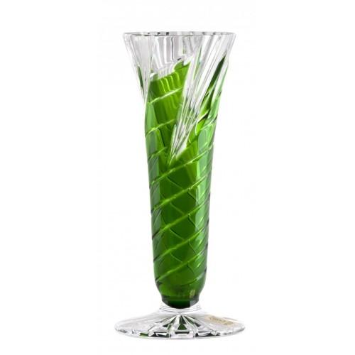 Váza  Whirl, barva zelená, výška 200 mm