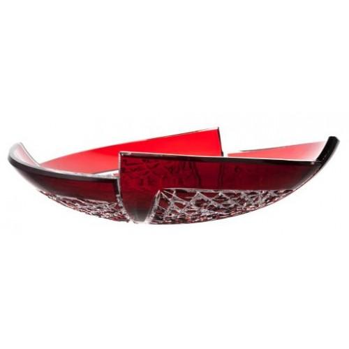 Mísa Fan, barva rubín, průměr 350 mm