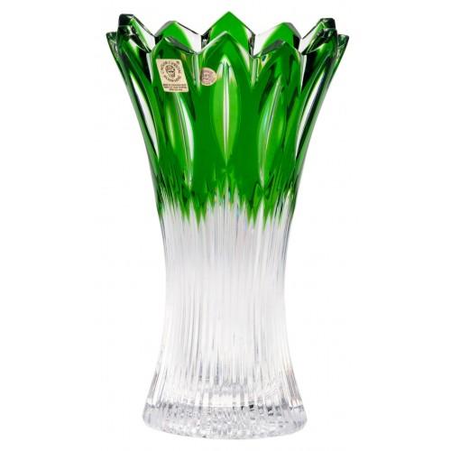 Váza Flame, barva zelená, výška 205 mm