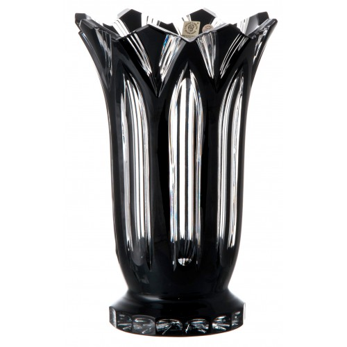 Váza Lotos, barva černá, výška 255 mm