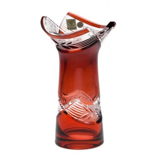 Váza  Laurel, barva rubín, výška 185 mm