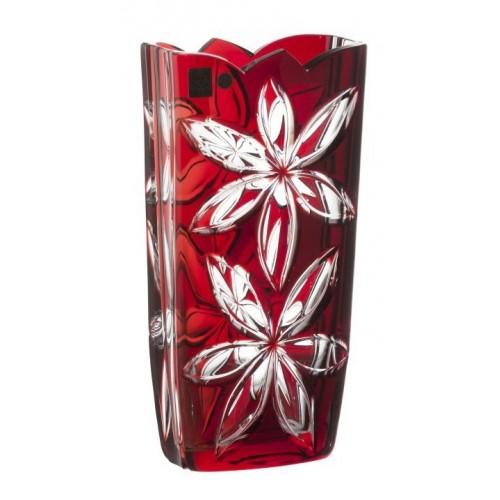 Váza  Linda, barva rubín, výška 255 mm