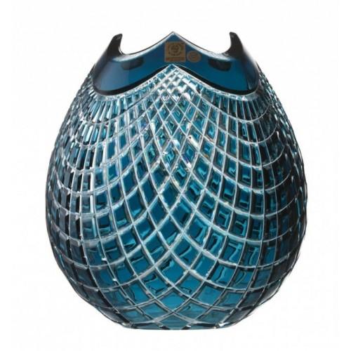 Váza  Quadrus, barva azurová, výška 210 mm