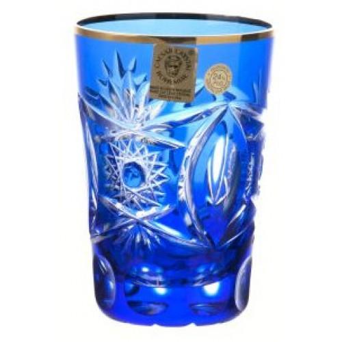 Sklenička, barva modrá, objem 145 ml