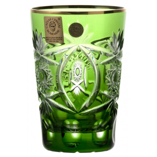 Sklenička, barva zelená, objem 145 ml
