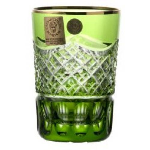 Sklenička, barva zelená, objem 100 ml