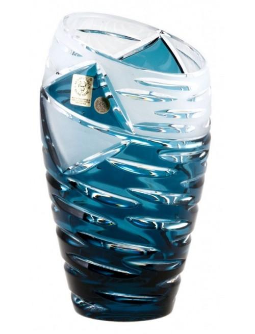 Váza  Mirage, barva azurová, výška 230 mm
