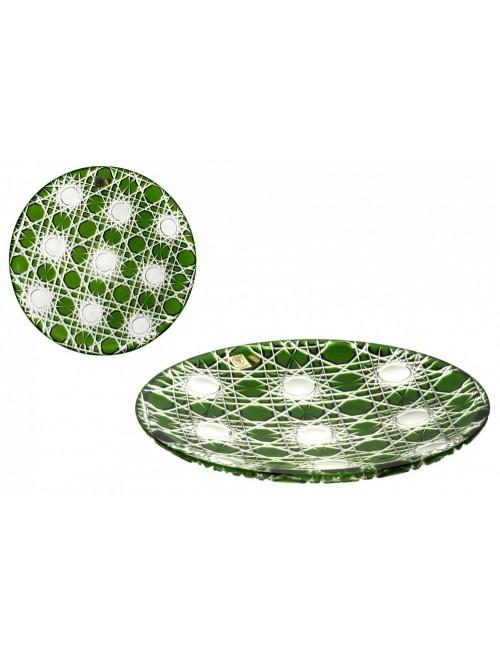 Talíř  Flake, barva zelená, průměr 300 mm