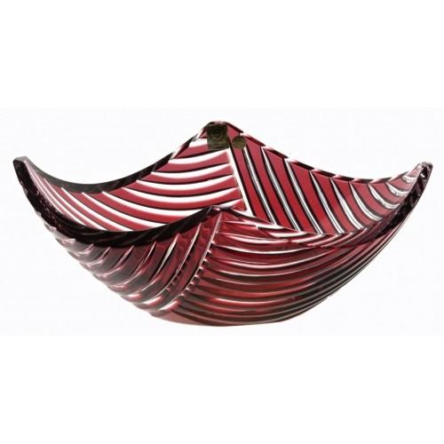 Mísa  Linum, barva rubín, průměr 280 mm