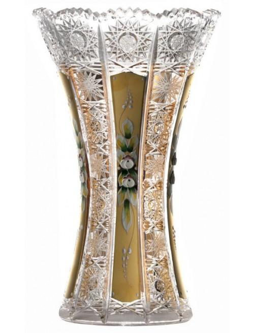 Váza 500K Zlato VII, barva čirý křišťál, výška 255 mm
