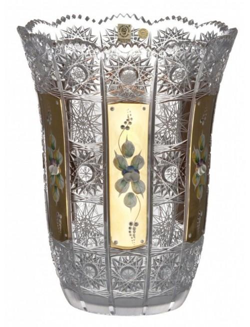 Váza 500K Zlato I, barva čirý křišťál, výška 255 mm