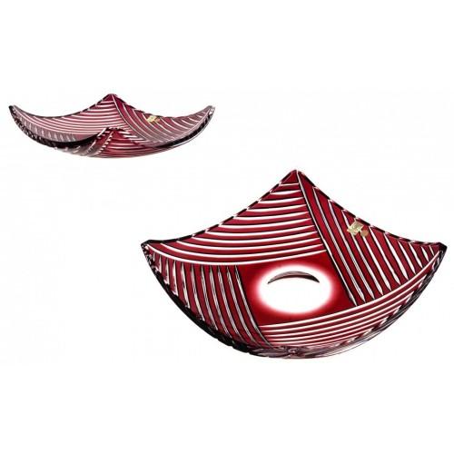 Mísa  Linum, barva rubín, průměr 350 mm