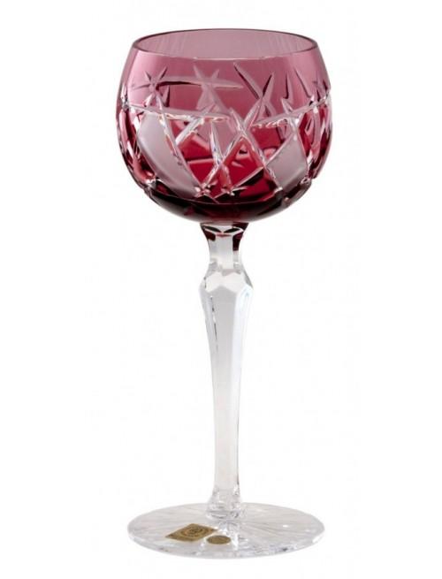 Sklenice na víno Mars, barva rubín, objem 190 ml
