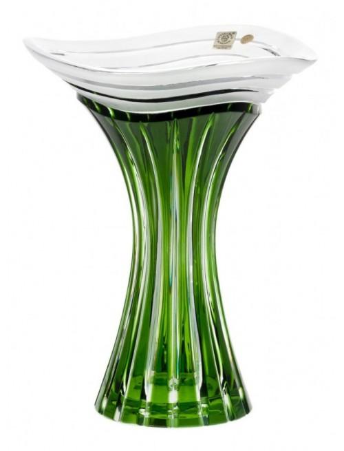 Váza  Dune, barva zelená, výška 250 mm