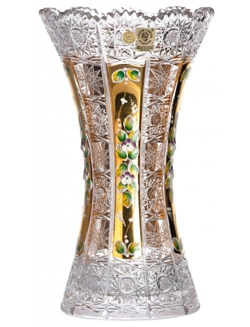Váza 500K Zlato, barva čirý křišťál, výška 305 mm