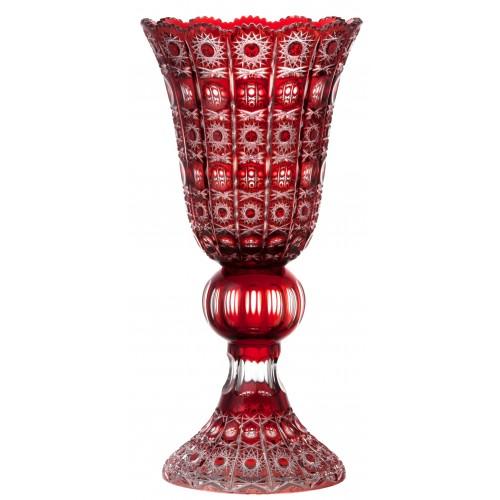 Váza Petra, barva rubín, výška 505 mm