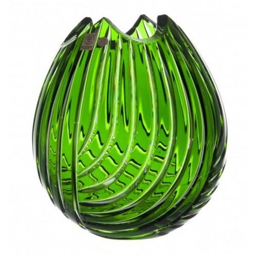 Váza  Linum, barva zelená, výška 210 mm