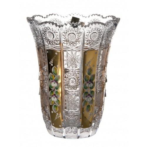 Váza 500K Zlato VI, barva čirý křišťál, výška 205 mm