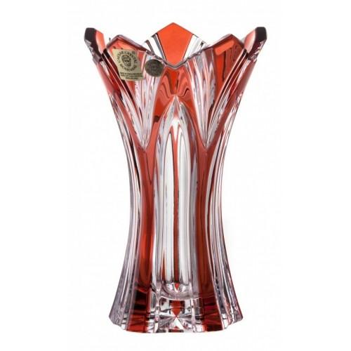 Váza Lotos, barva rubín, výška 155 mm