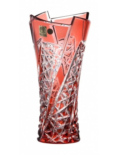 Váza  Fan, barva rubín, výška 205 mm