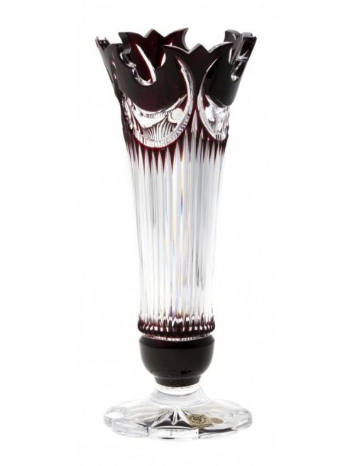 Váza  Diadem, barva rubín, výška 280 mm