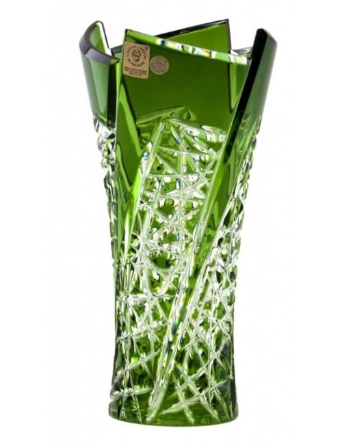 Váza  Fan, barva zelená, výška 205 mm