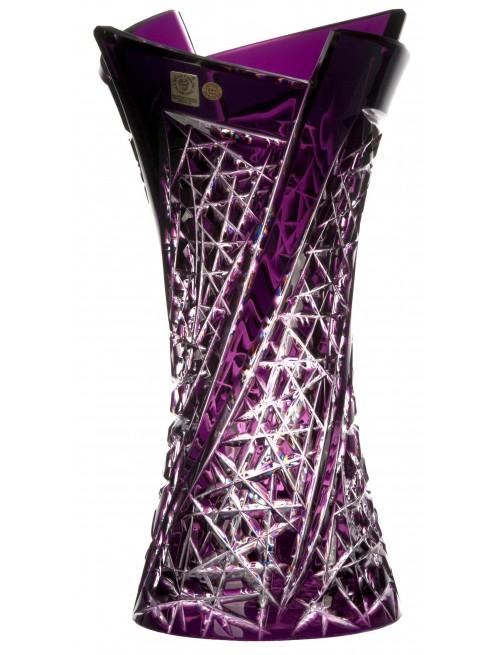 Váza  Fan, barva fialová, výška 305 mm
