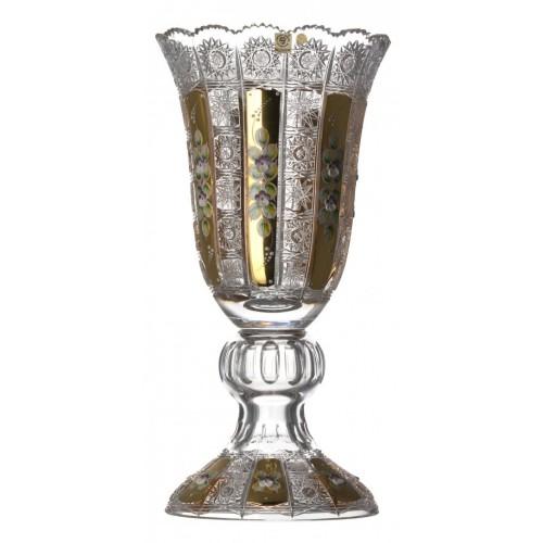 Váza  500 K Gold, barva čirý křišťál, výška 430 mm