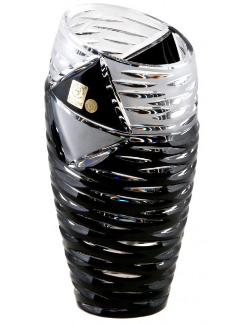 Váza Mirage, barva černá, výška 180 mm