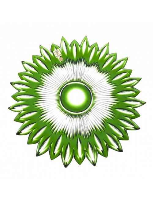 Talíř  Flame, barva zelená, průměr 300 mm