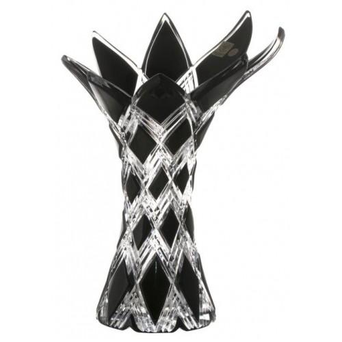Váza Harlequin, barva černá, výška 270 mm