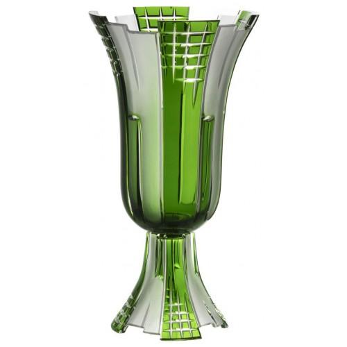 Váza Metropolis, barva zelená, výška 390 mm
