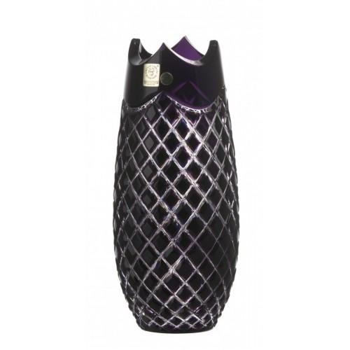 Váza  Quadrus, barva fialová, výška 230 mm