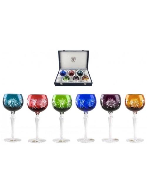 Set Sklenice na víno Pinwheel 190  LUX, barva mix barev, objem 190 ml