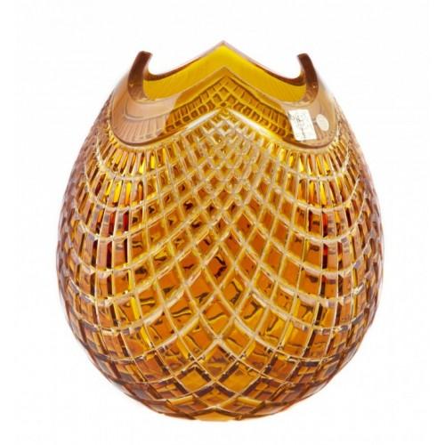 Váza Quadrus, barva amber, výška 280 mm